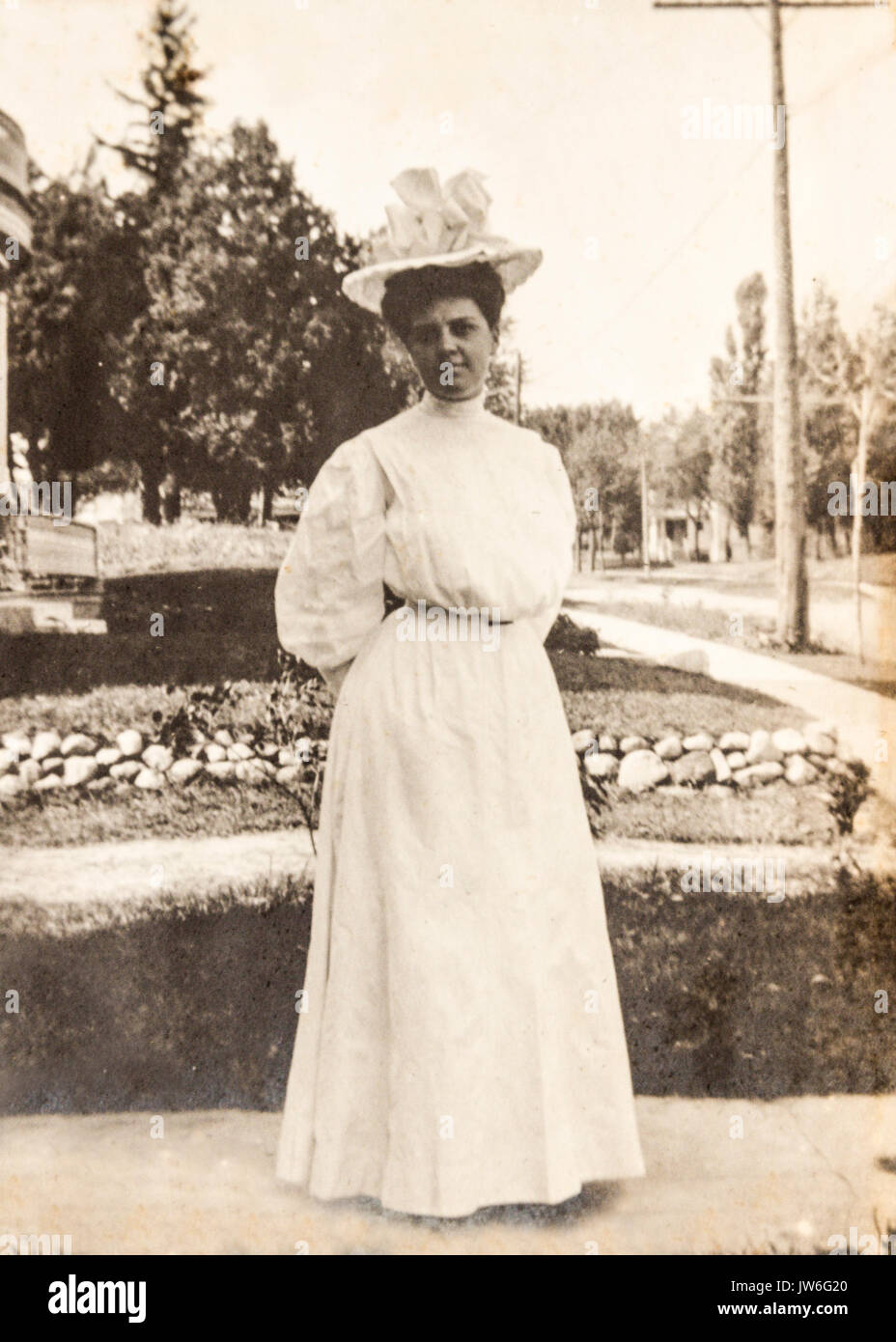 Old photo from 1907 to 1908 In the US state of Minnesota Stock Photo