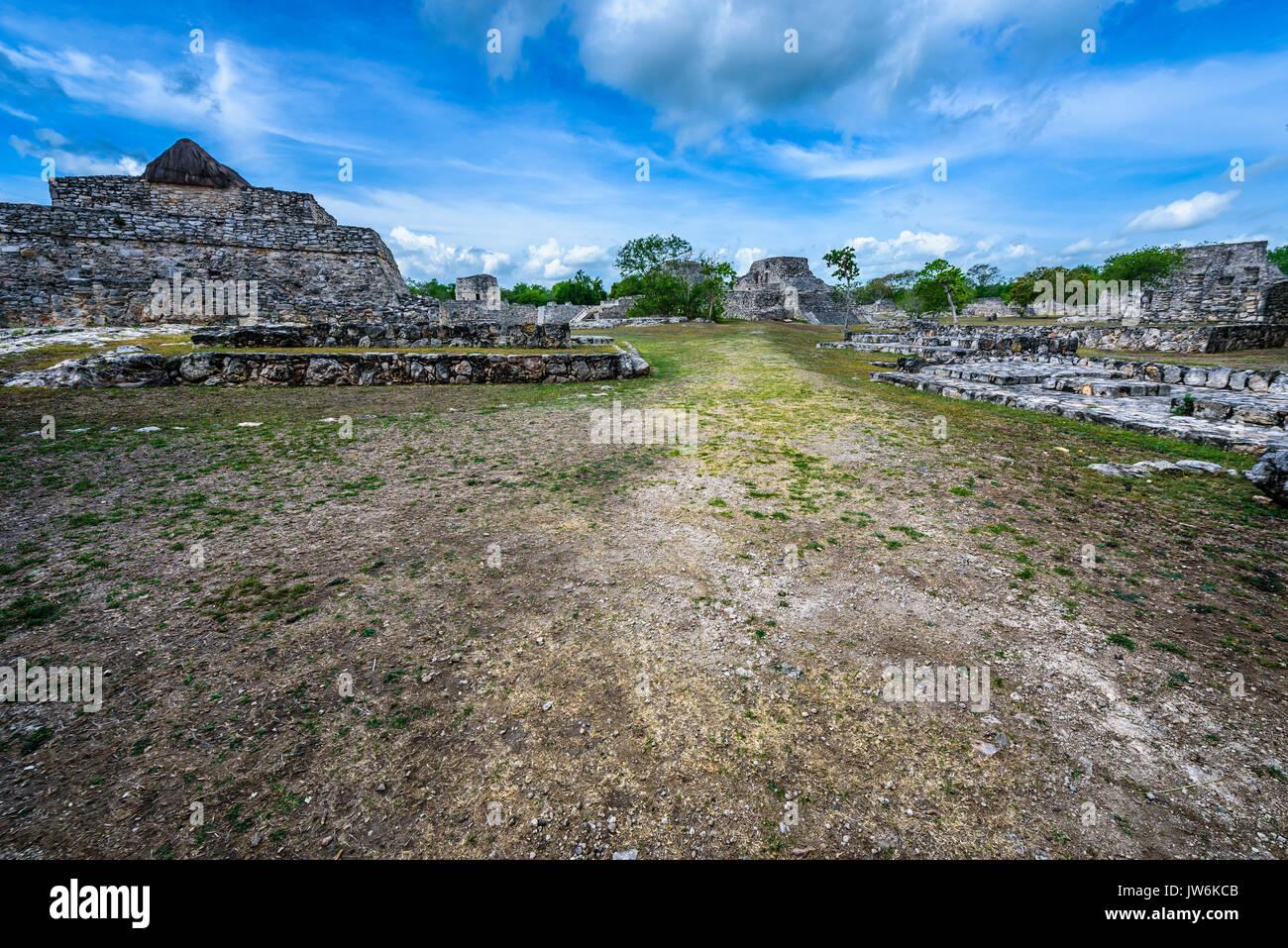Archeological mayan site of Mayapan, Yucatan (Mexico) - Stock Image