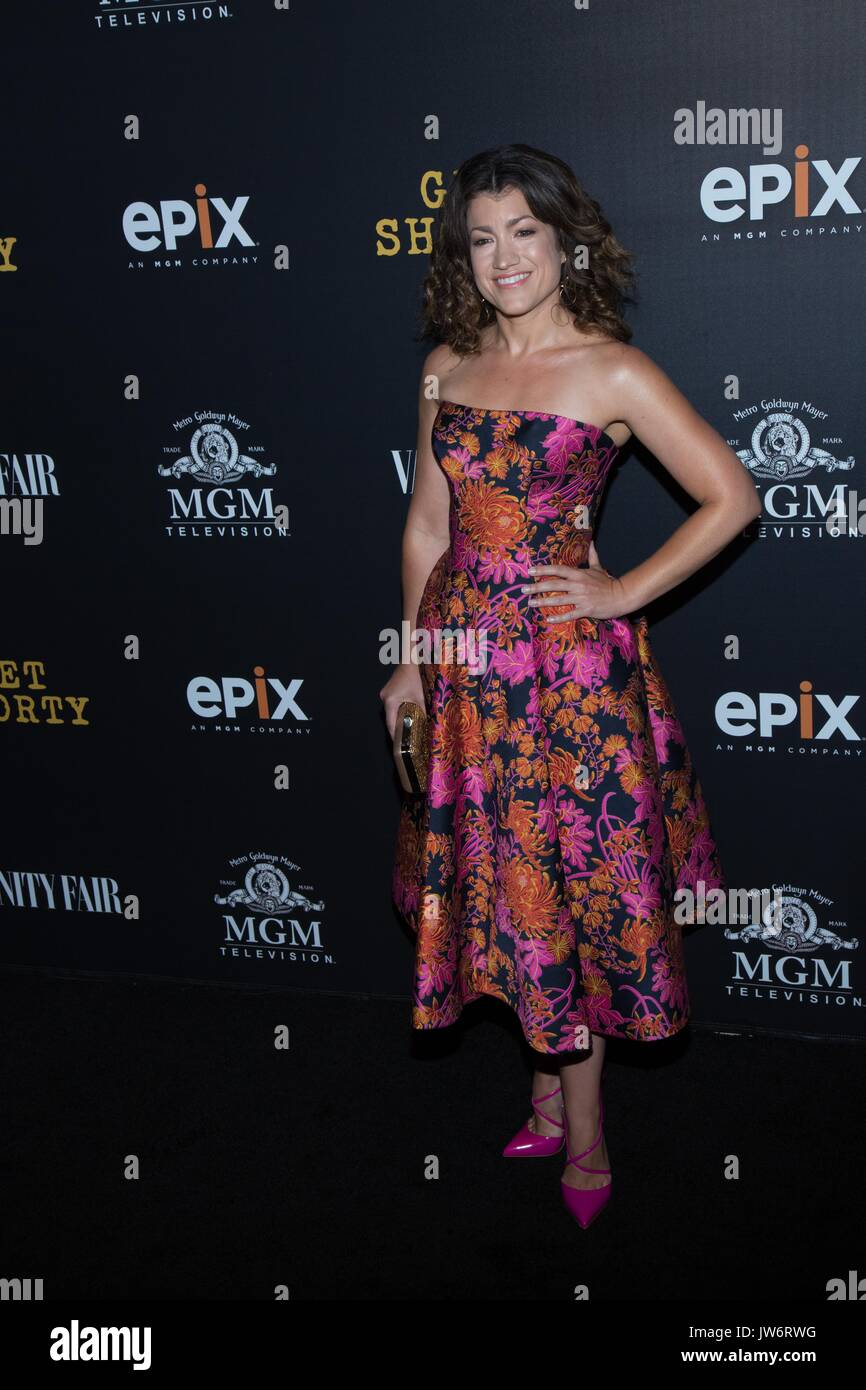 West Hollywood,USA. 10th Aug,2017. Sarah Stiles attends red carpet premiere EPIX original series 'Get Shorty' Pacific Stock Photo