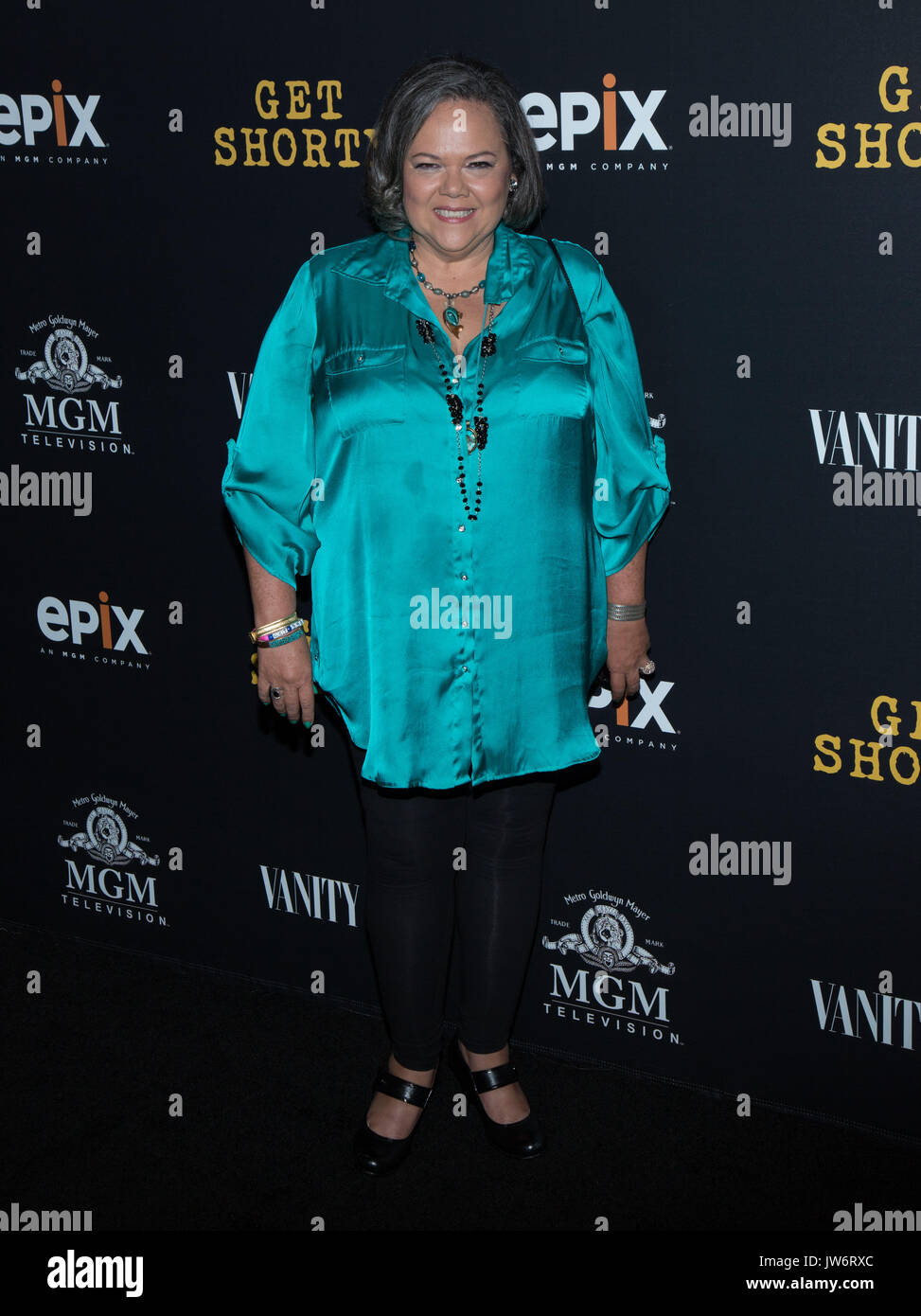 West Hollywood,USA. 10th Aug,2017. Lidia Porto attends red carpet premiere EPIX original series 'Get Shorty' Pacific Stock Photo