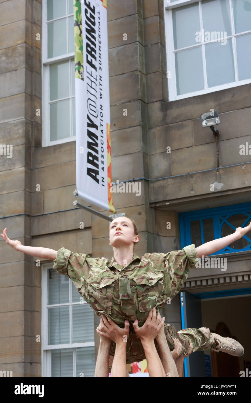 Edinburgh, Scotland 11th August. Head of the Army in Scotland Welcomes Performances for New Fringe Venue. (Venue 210) Brigadier Gary Deakin Welcomed performers to the history Hepburn House for the opening of the Army's first ever Edinburgh Festival Fringe Venue. Edinburgh . Pako Mera/Alamy Live News - Stock Image