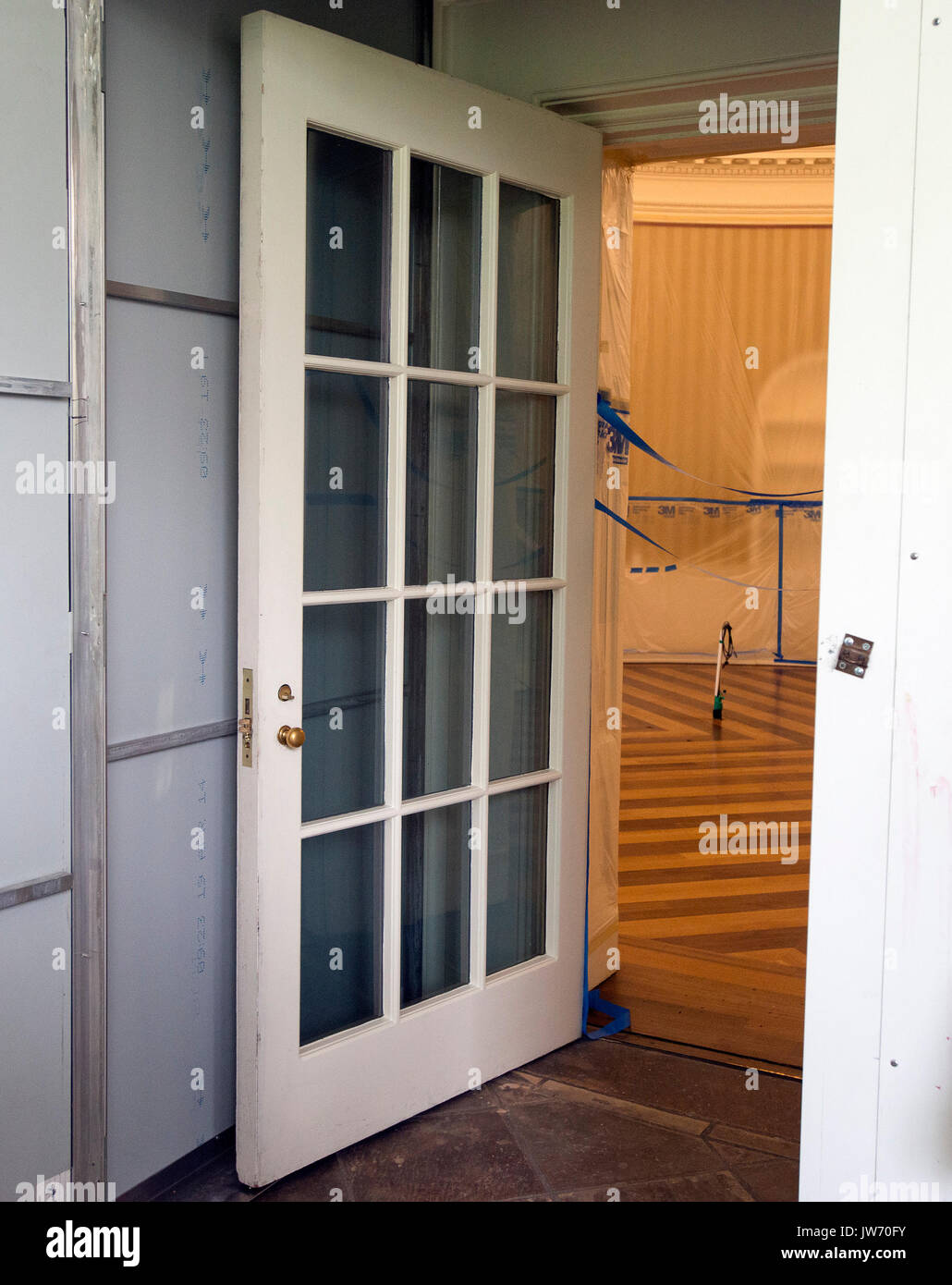 west wing oval office. Protective Outer Door Leading To The Oval Office In White House West Wing Washington, DC As It Is Undergoing Renovations While United States N