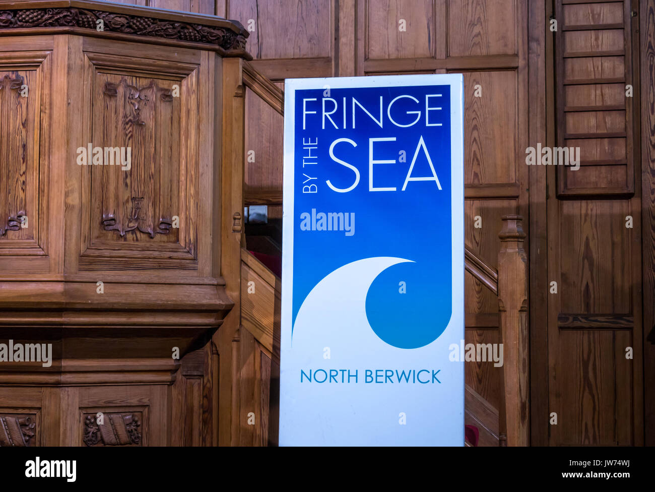 Abbey Church, High Street, North Berwick, East Lothian, Scotland, United Kingdom, 11th August 2017. Jazz concert by Tommy Smith, saxophone player, and Brian Kellock, pianist, at Fringe By The Sea festival, the coastal alternative to the Edinburgh Fringe Festival during the first week of August - Stock Image