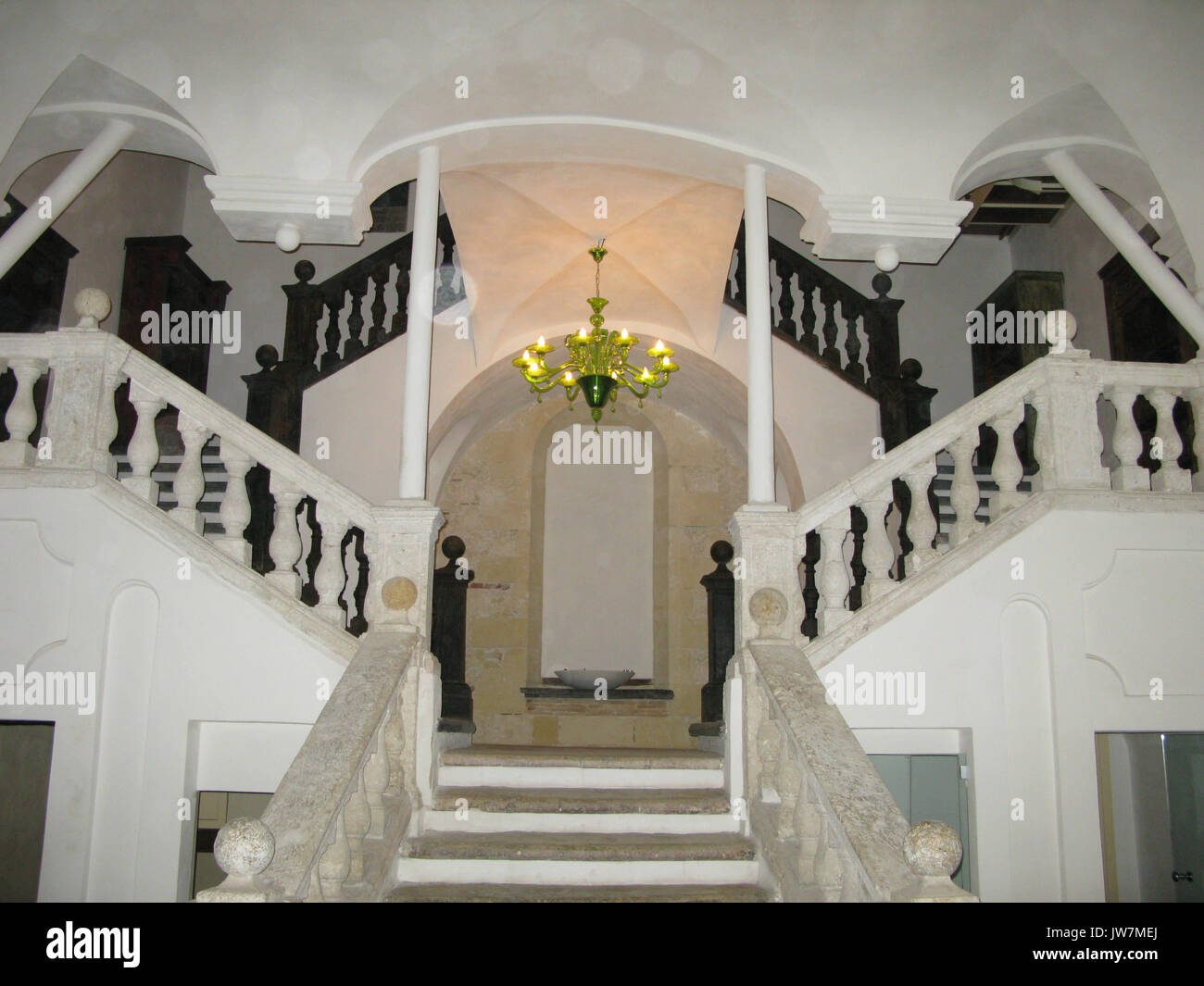 Picture of: A Beautiful Marble Staircase In An Old Building Stock Photo Alamy