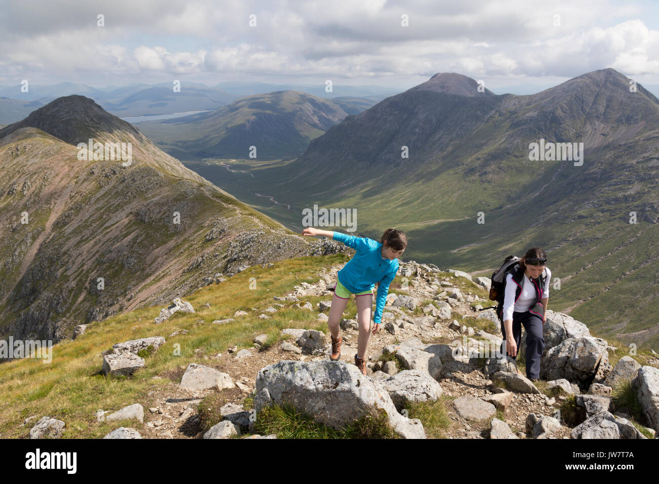 Rambling in Glencoe, Highland Scotland - Stock Image