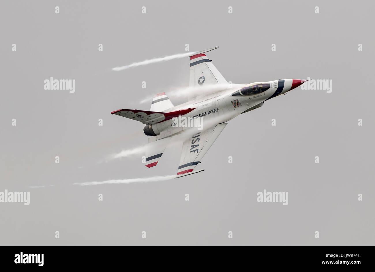 Thunderbirds Aerobatic Display Team, USAF - Stock Image