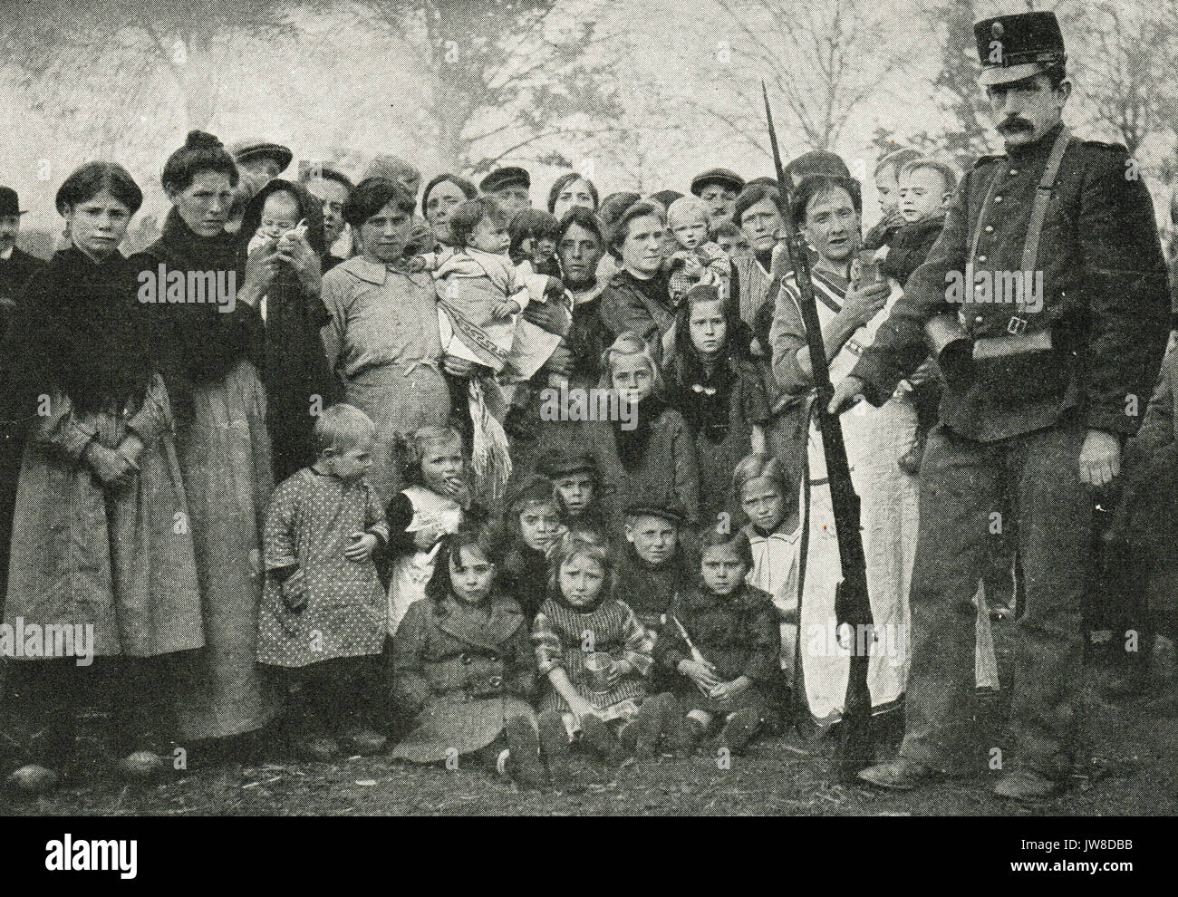 Dutch guarded camp for civilian Belgian refugees, Bergen op Zoom - Stock Image