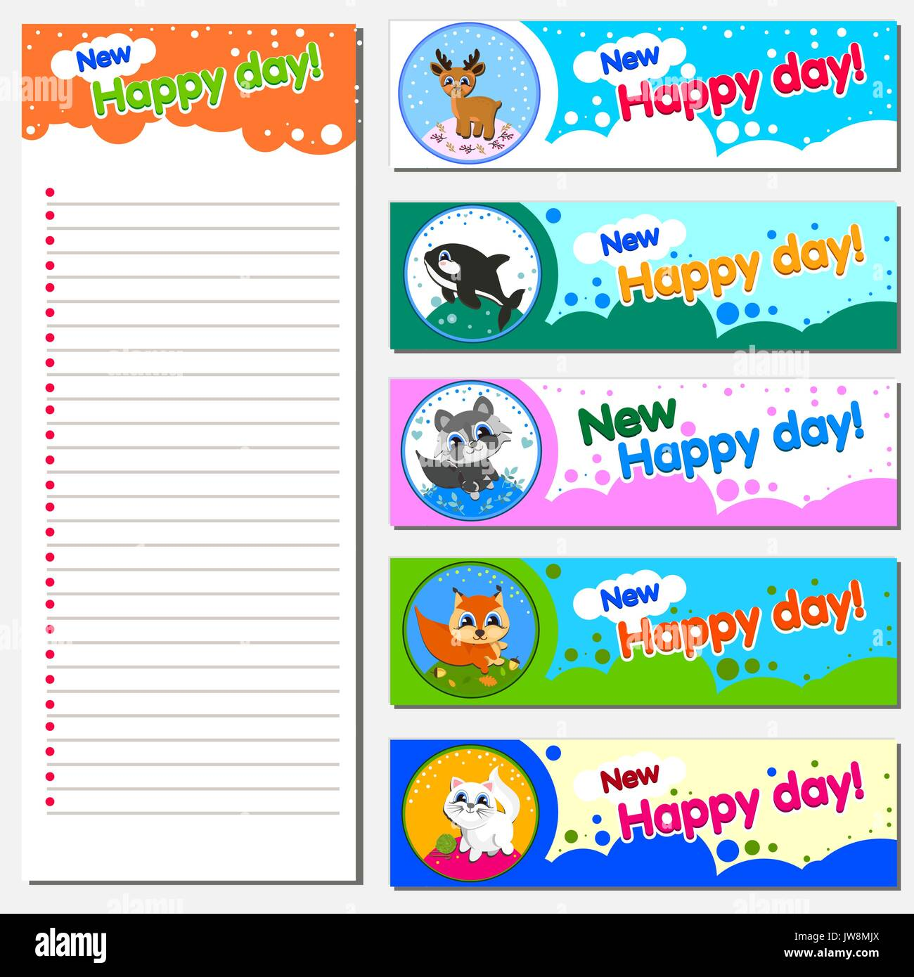 calendar planner 2018 design template with replaceable banner illustration of cheerful animals children s theme