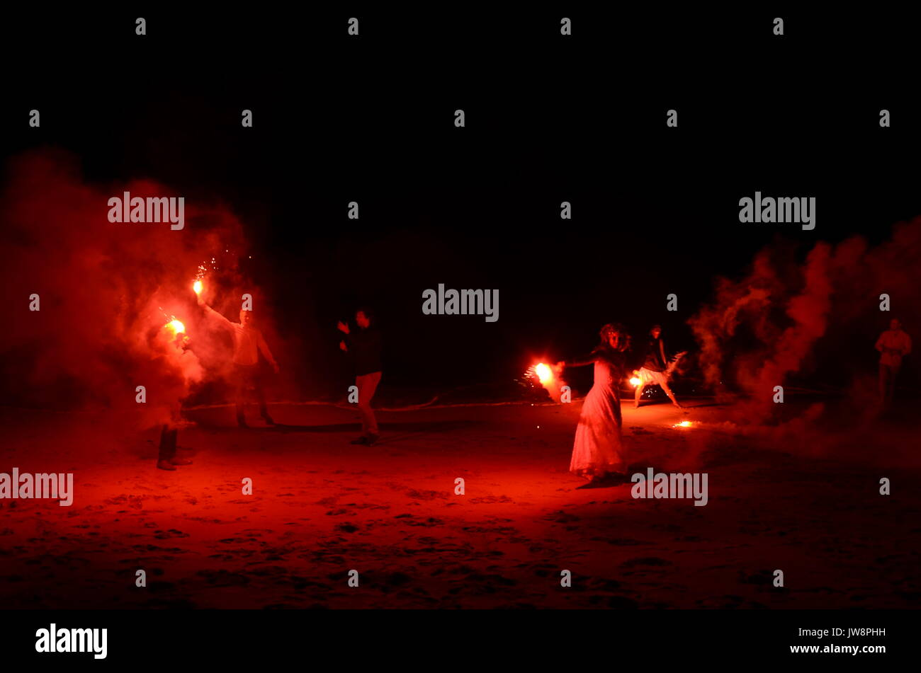 beach party, magnetic island - Stock Image