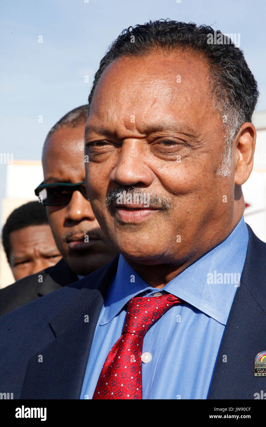 Reverend Jesse Jackson at Joe Frazier's private funeral at the Enon Tabernacle Baptist Church, in Philadelphia, Pa on November 14, 2011  © Star Shooter / MediaPunchInc - Stock Image