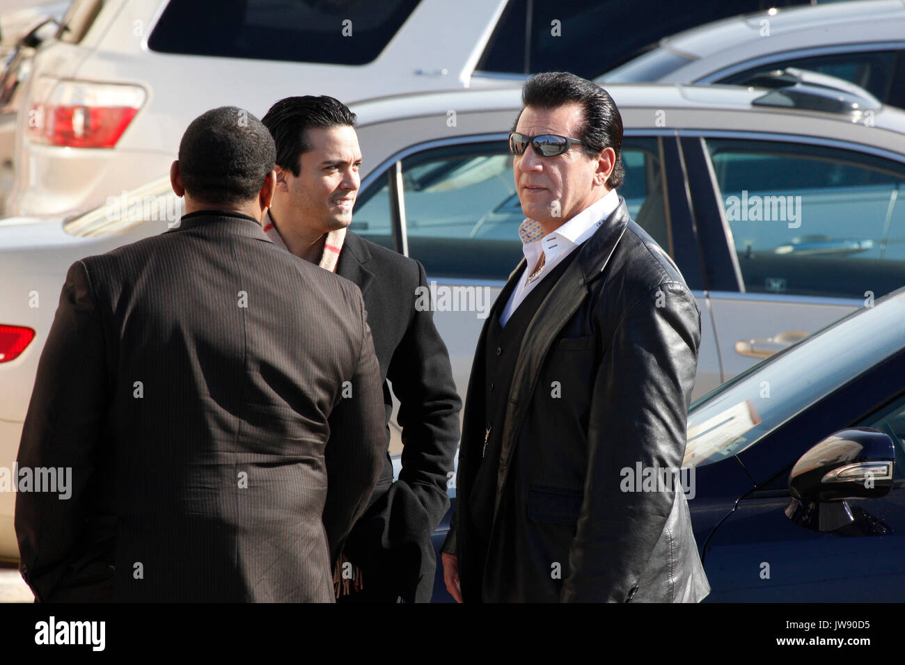 Chuck Zito at Joe Frazier's private funeral at the Enon Tabernacle Baptist Church, in Philadelphia, Pa on November 14, 2011  © Star Shooter / MediaPunchInc - Stock Image