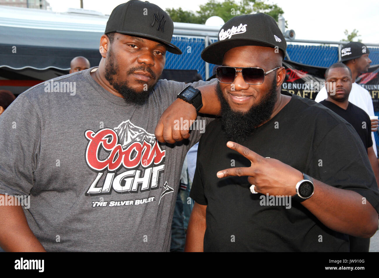 Beanie Sigel and Freeway pictured backstage at The Roots Picnic at Festival  Pier in Philadelphia 567f0081409