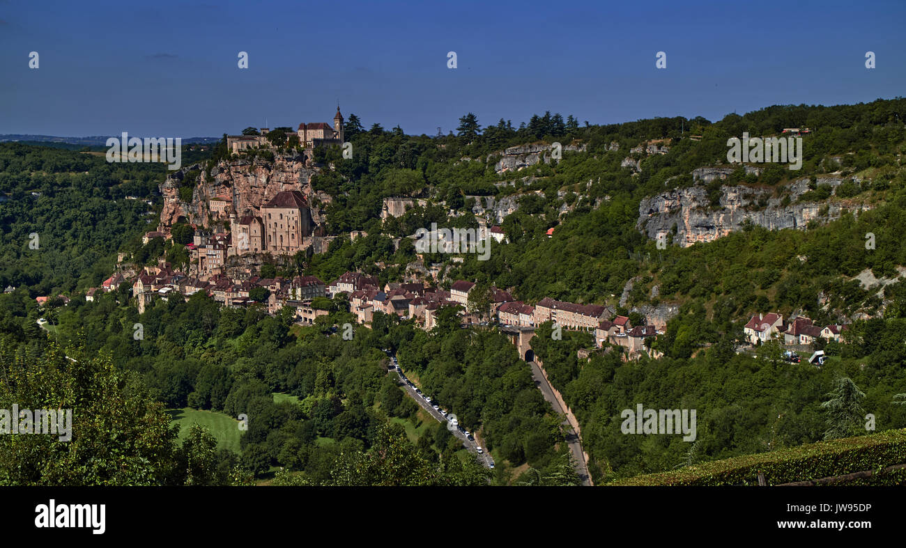 Europe, France, Occitanie, Lot, Rocamadour city - Stock Image