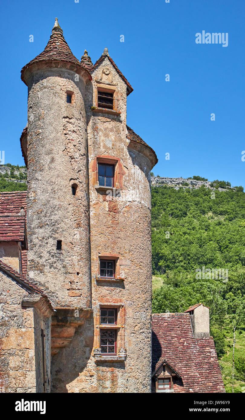 Europe, France, Occitanie, Lot, Autoire village,  labelled Les Plus Beaux Villages de France (the Most Beautiful Villages of France), the castle of Limargue 15th century - Stock Image
