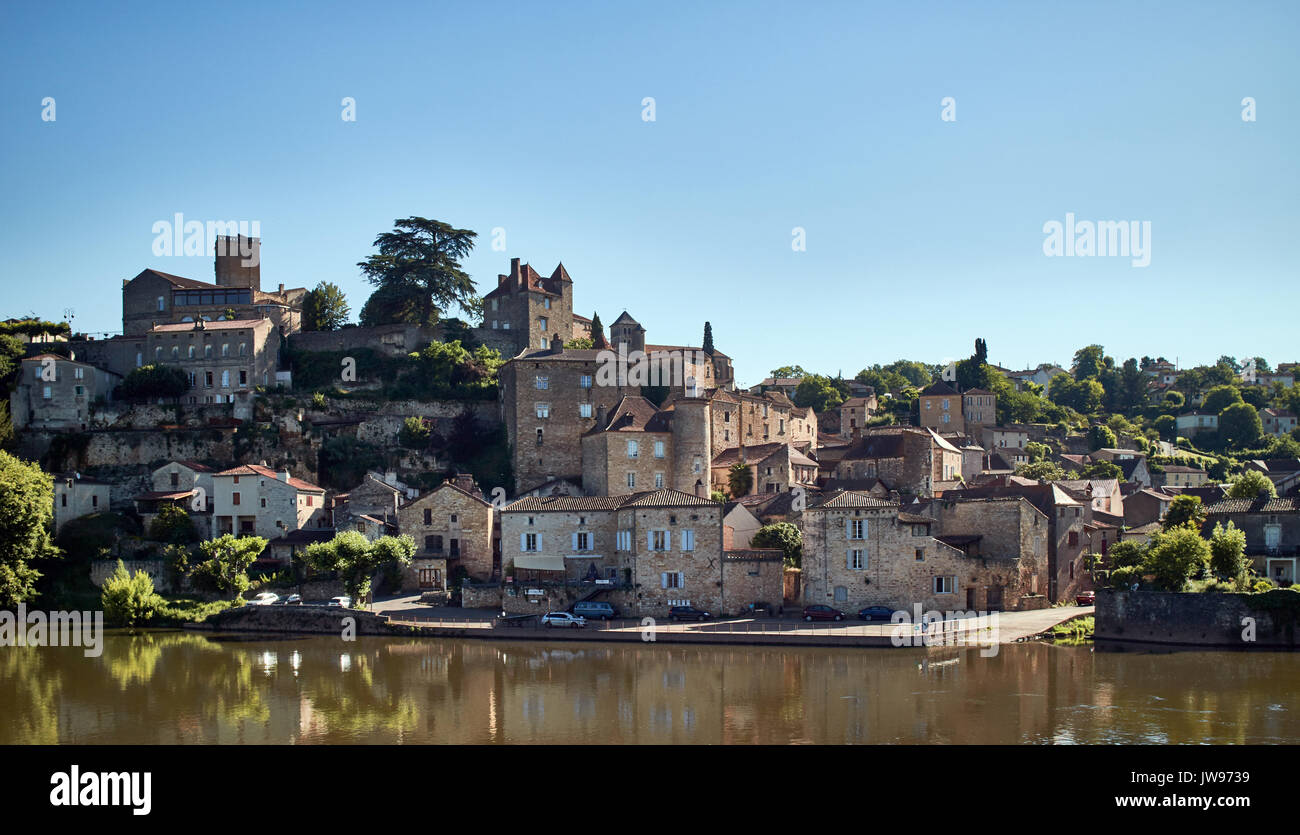 Europe, France, Occitanie, Lot, Puy l'Evêque city along the Lot river, medieval Stock Photo