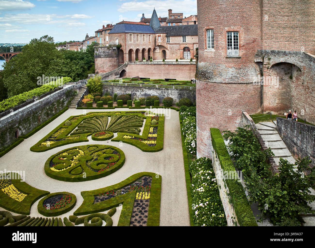 Europe, France, Occitanie,Tarn, Albi city,Berbie palace, the garden and the Tarn river Stock Photo