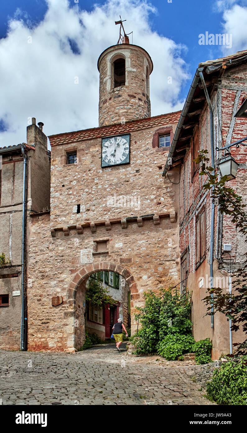 Europe, France, Occitanie, Tarn,  Cordes-sur-Ciel village, Bastide labeled as Les Plus Beaux Villages de France, The Most Beautiful Villages of France, Midi-Pyrenees Region - Stock Image