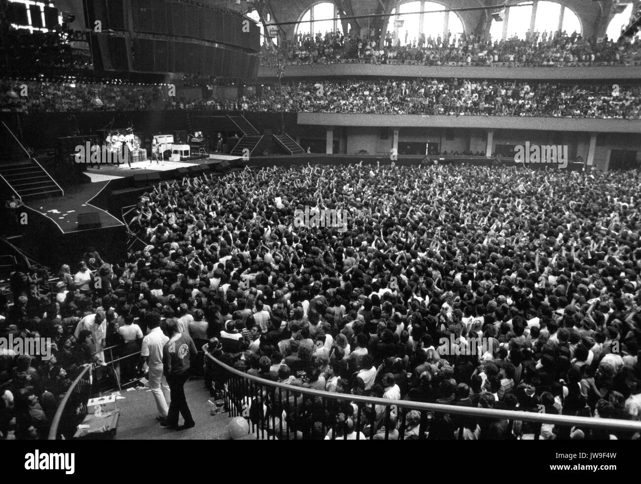 Audience in the Festhalle.The Rolling Stones on 29 June 1982 in Frankfurt (Germany).   usage worldwide Stock Photo