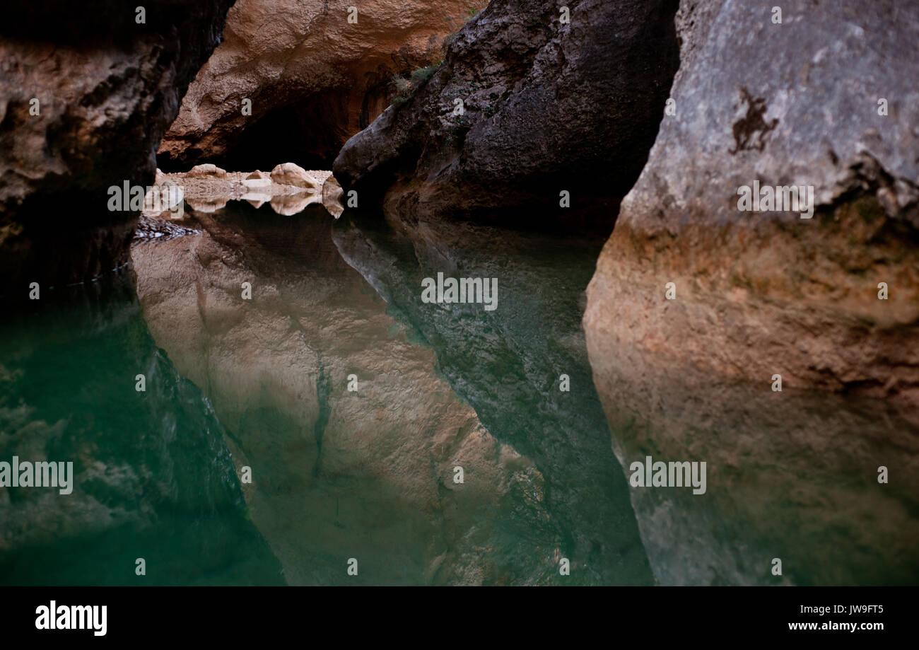 Mascun Inferior Caynon, Rodellar, Aragon, Spain, western Europe. - Stock Image