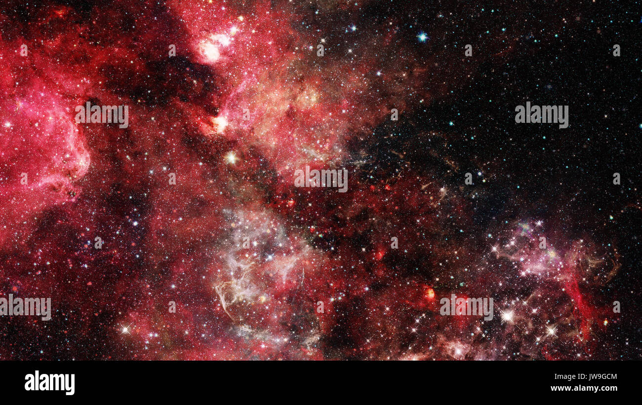 Galaxy in outer space. Elements of this Image Furnished by NASA. - Stock Image