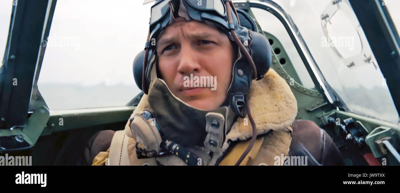 DUNKIRK 2017 Warner Bros film with Tom Hardy - Stock Image