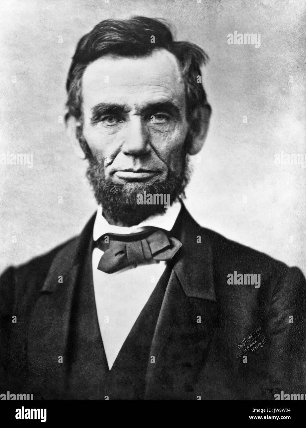 ABRHAM LINCOLN (1809-1865) American President photographed by Alexander Gardner on 8 November 1863 - Stock Image