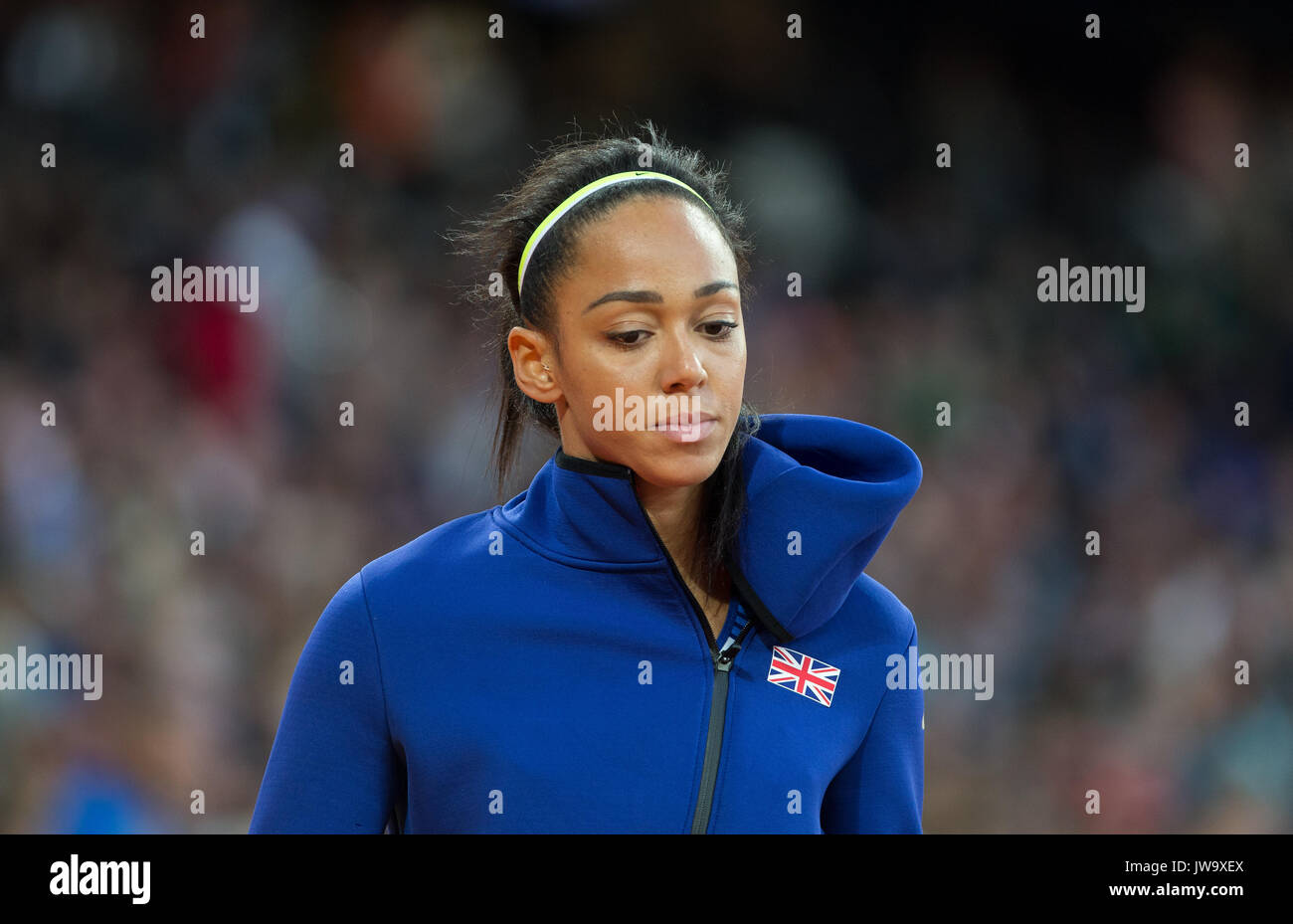 Katarina Johnson-Thompson of GBR in the high jump during the IAAF World Athletics Championships 2017 - Day 7 at the Olympic Park, London, England on 1 - Stock Image