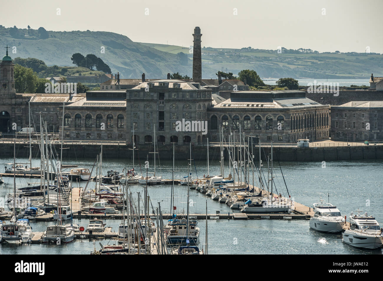 Picture by Paul Slater/PSI - Royal William Yard, Plymouth, Devon, UK - Stock Image
