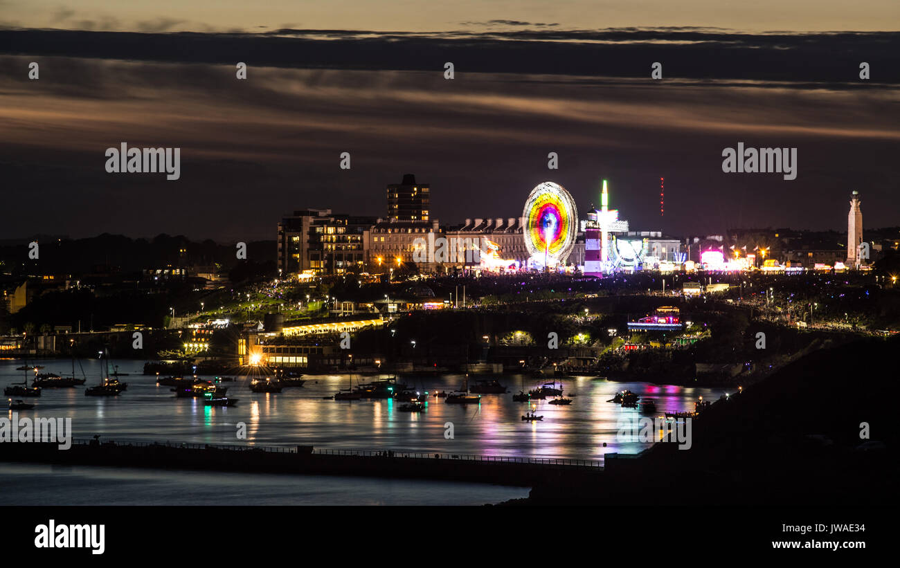 Picture by Paul Slater/PSI  - British Fireworks Championships, Plymouth Hoe, Devon - Stock Image