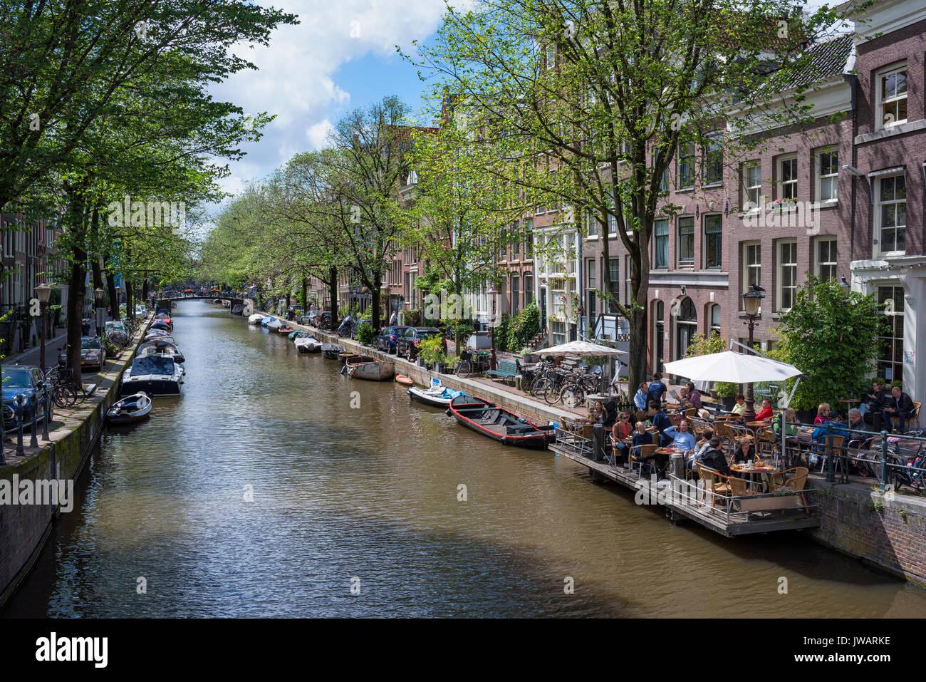 The Egelantiersgracht, Amsterdam, North Holland, Netherlands - Stock Image