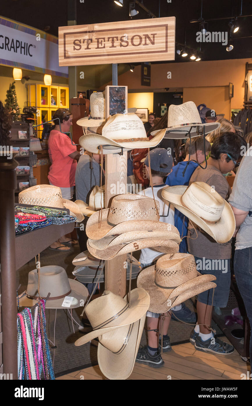 Famous western brand Stetson hats in local store f6428f054e6