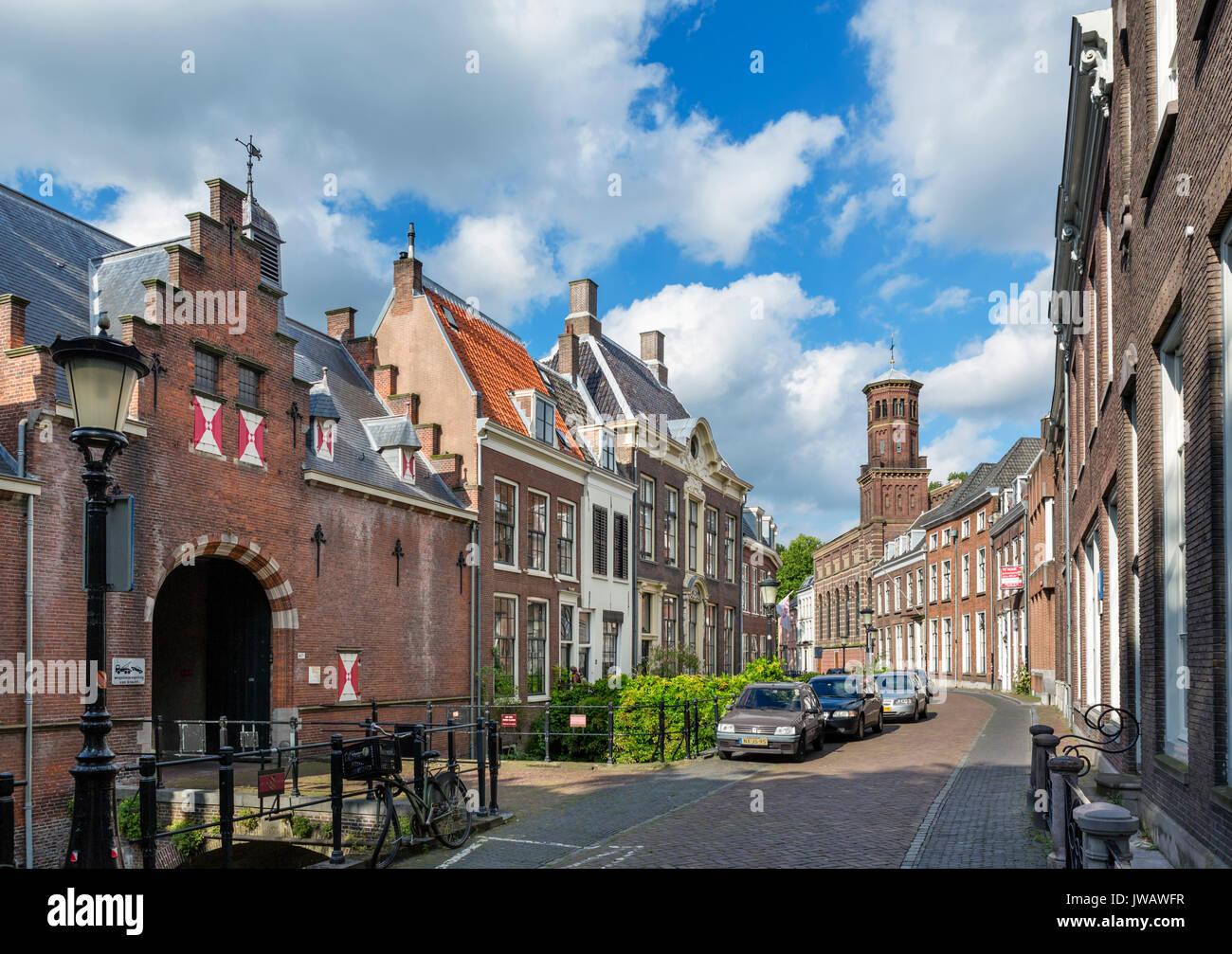 Kromme Nieuwegracht, a picturesque street in the historic city centre, Utrecht, Netherlands - Stock Image