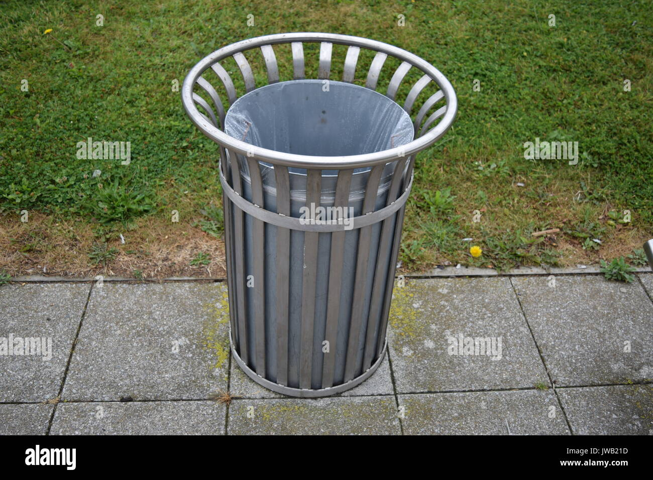 Metallic bin - Stock Image