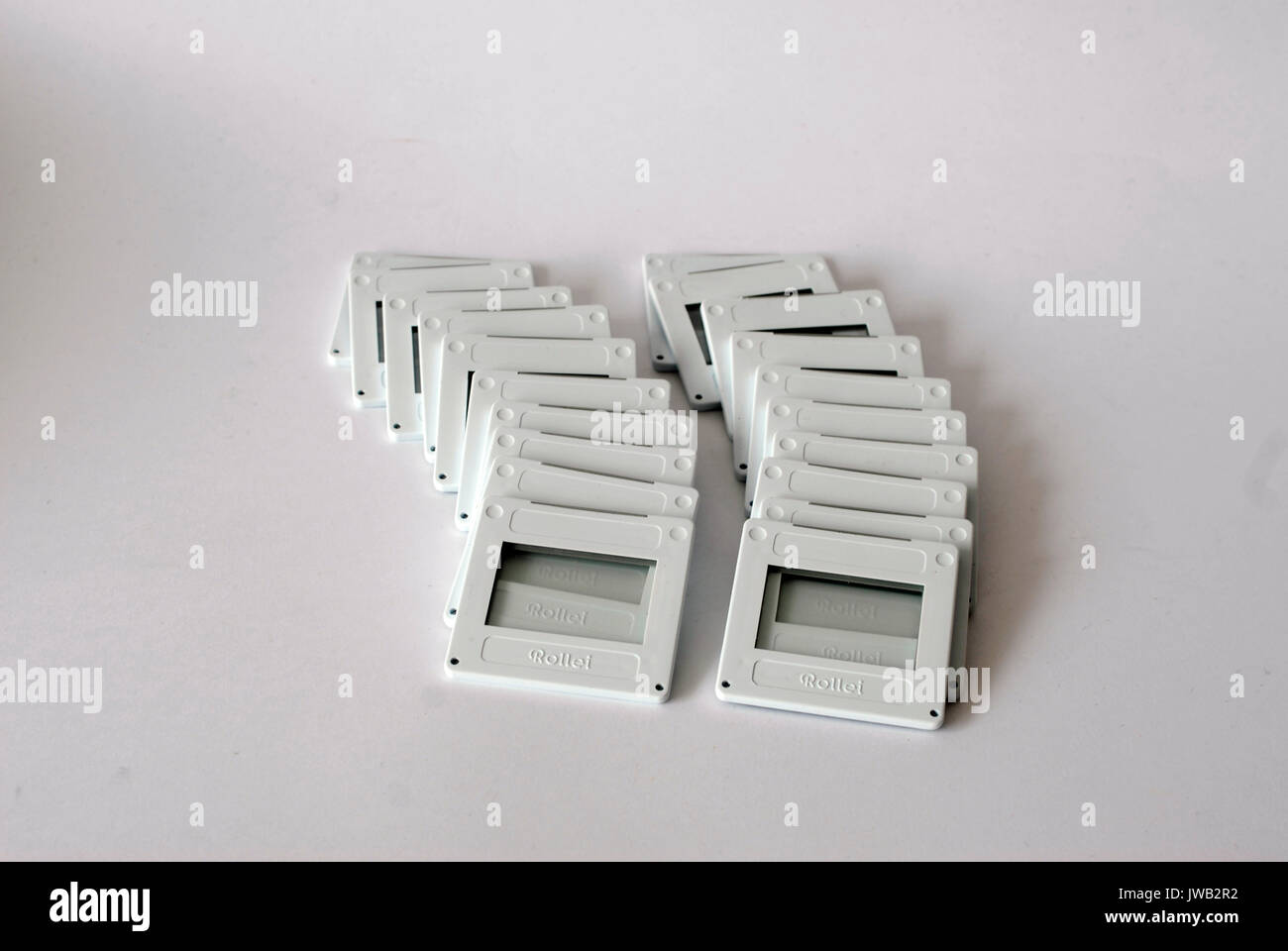Vintage box of frames for slides, Rollei Brand - Stock Image