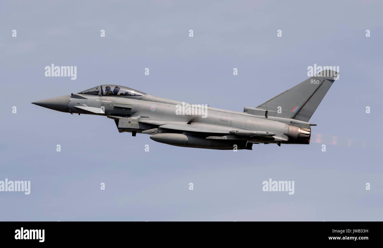 RAF Typhoon FGR4 Display Team - Stock Image
