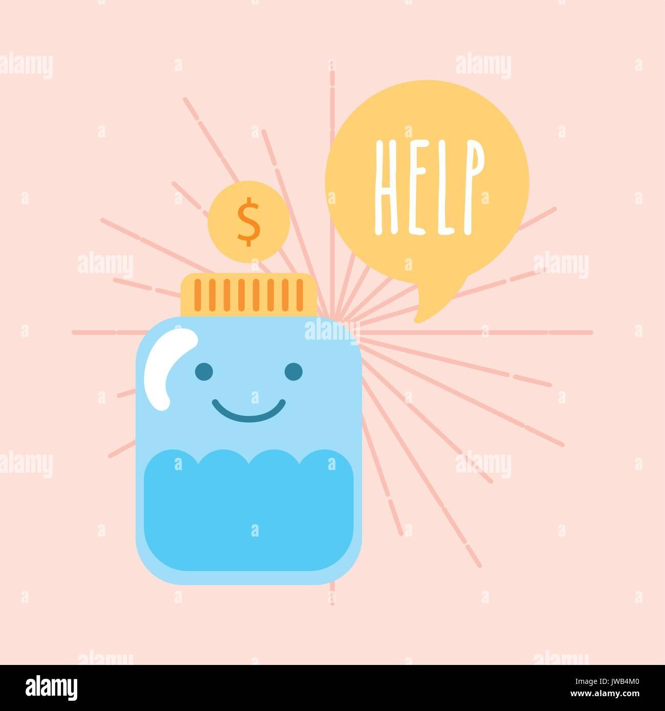 Help donations children - Stock Image