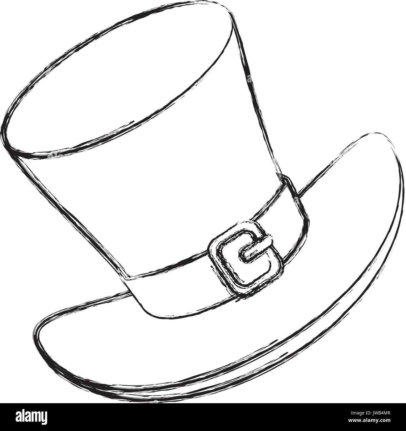 cd83e3fc86d Irish elf hat saint patrick celebration vector illustration design - Stock  Image