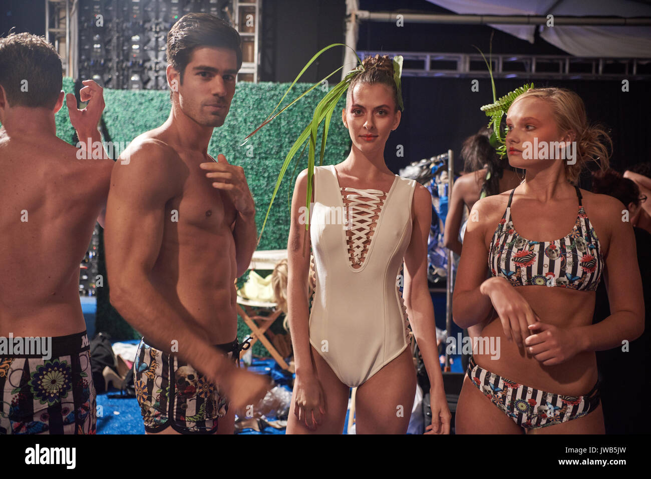 Miami, South Beach, USA. July 2017. Images from Miami Swim Week an annual event showcasing swimsuit designers from across the world - Stock Image