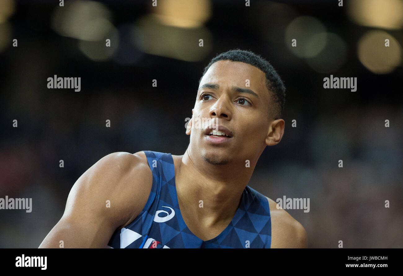 JEAN-MARC PONTVIANNE of France during the triple jump during the IAAF World Athletics Championships 2017 - Day 7 at the Olympic Park, London, England  - Stock Image