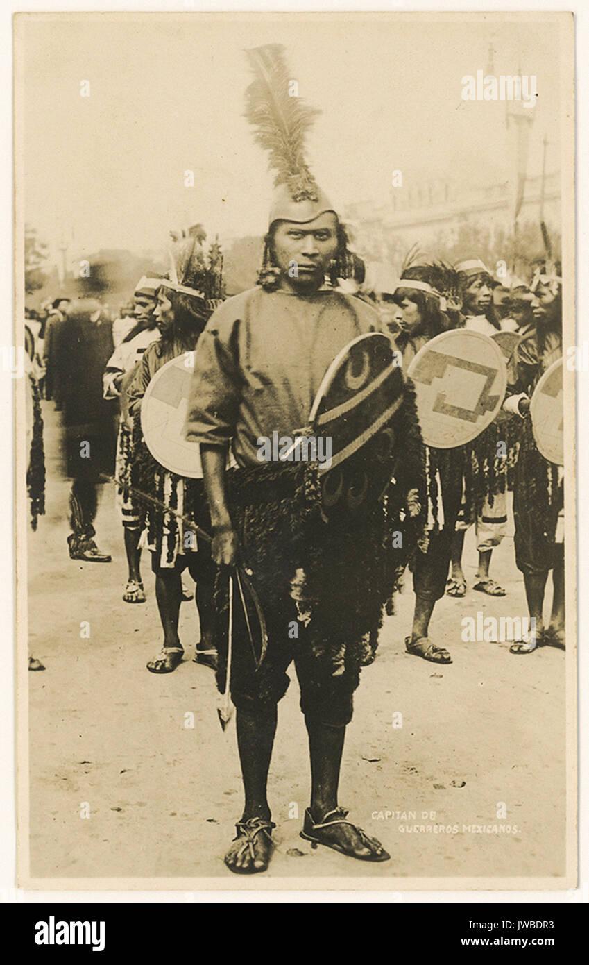 Capitan de Guerreros Mexicanos.  - American Border Troops and the Mexican Revolution Stock Photo