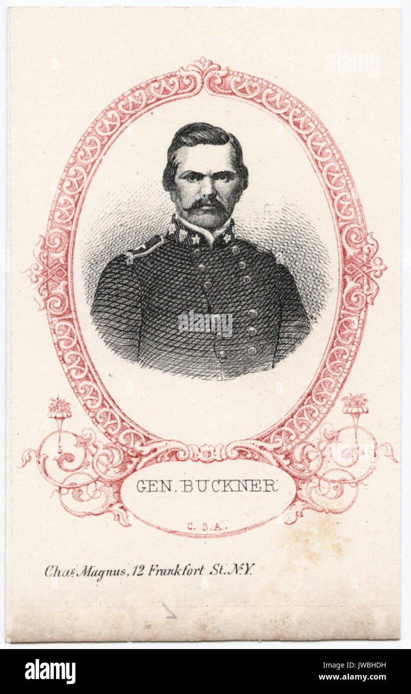 Gen. Buckner, C.S.A. - Portrait - Stock Image