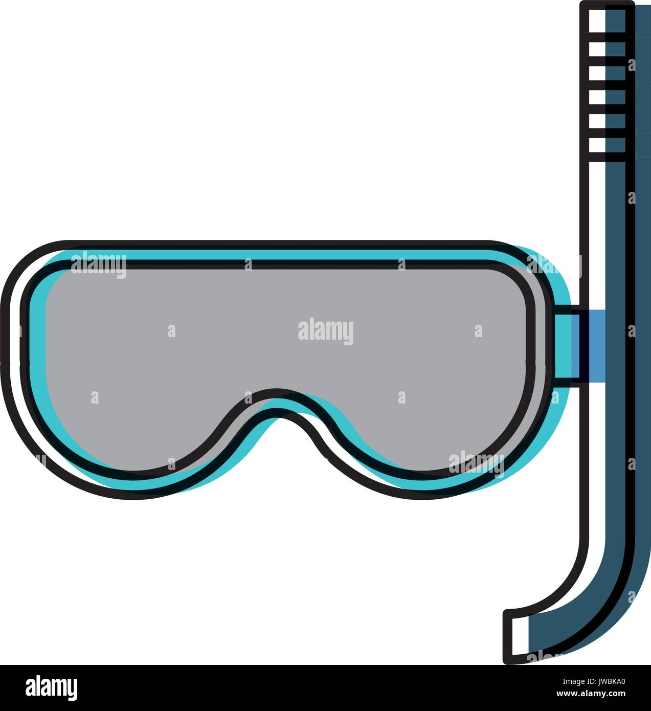 snorkel mask icon - Stock Vector