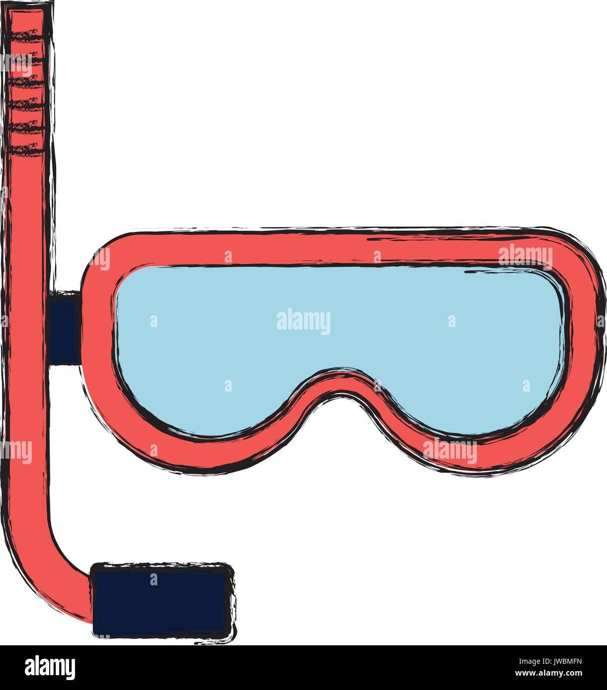 Snorkel mask design - Stock Vector