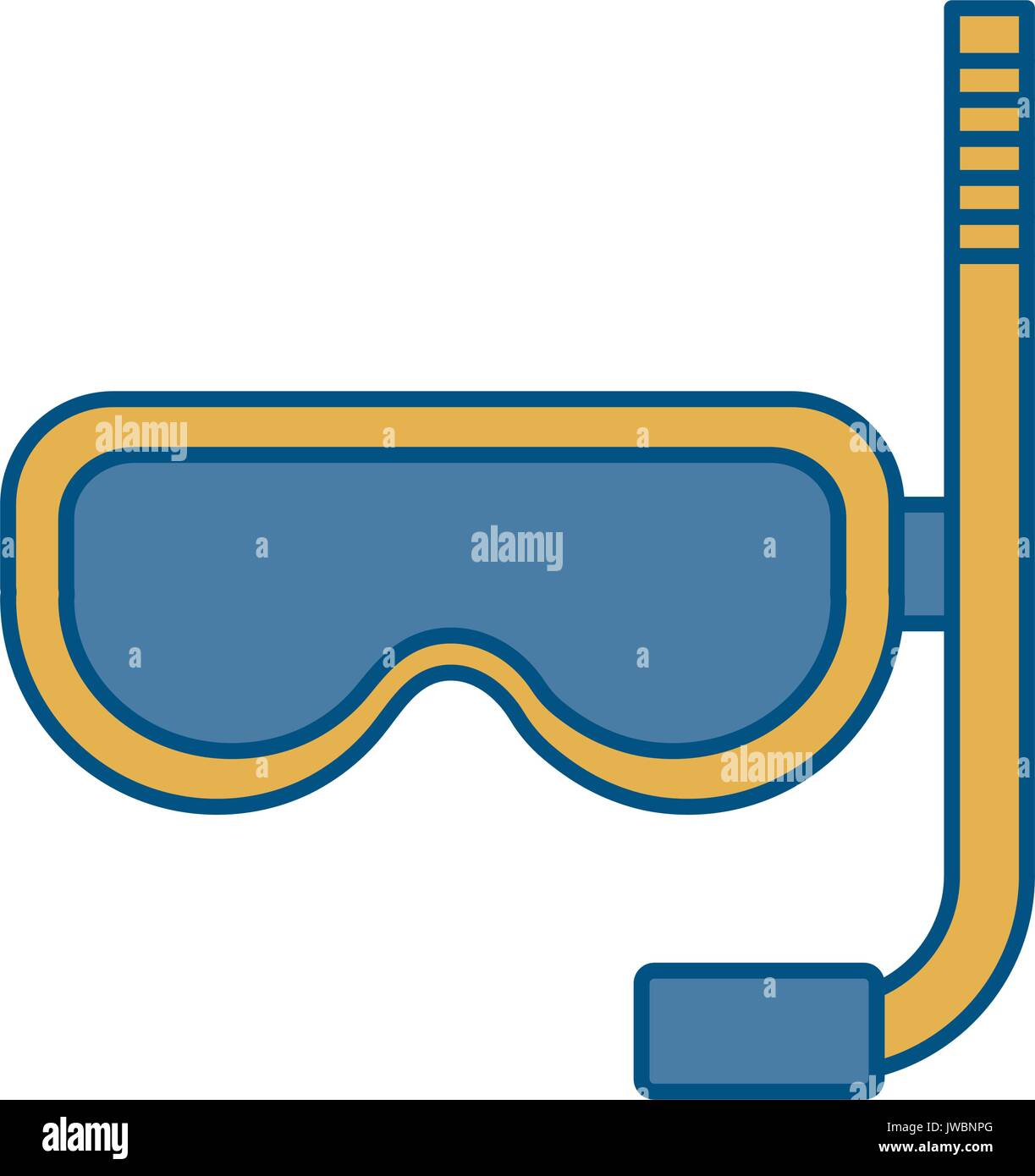Snorkel mask design - Stock Vector