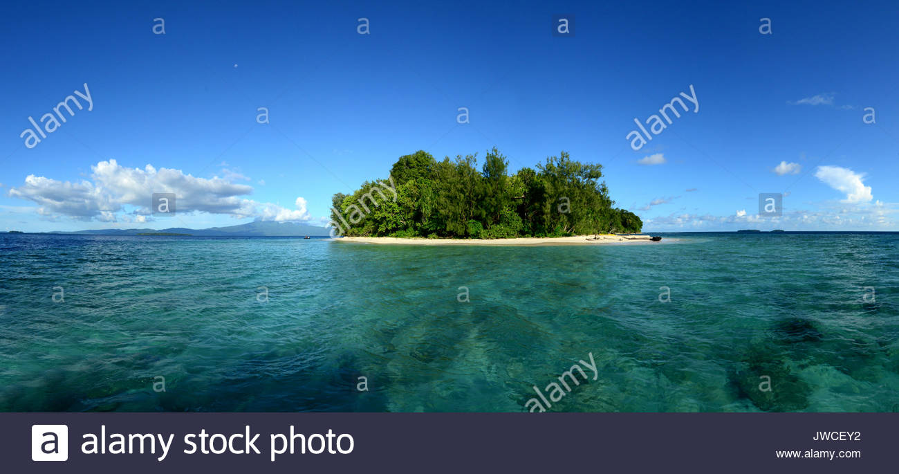 Hele Island in the Solomon Islands. - Stock Image