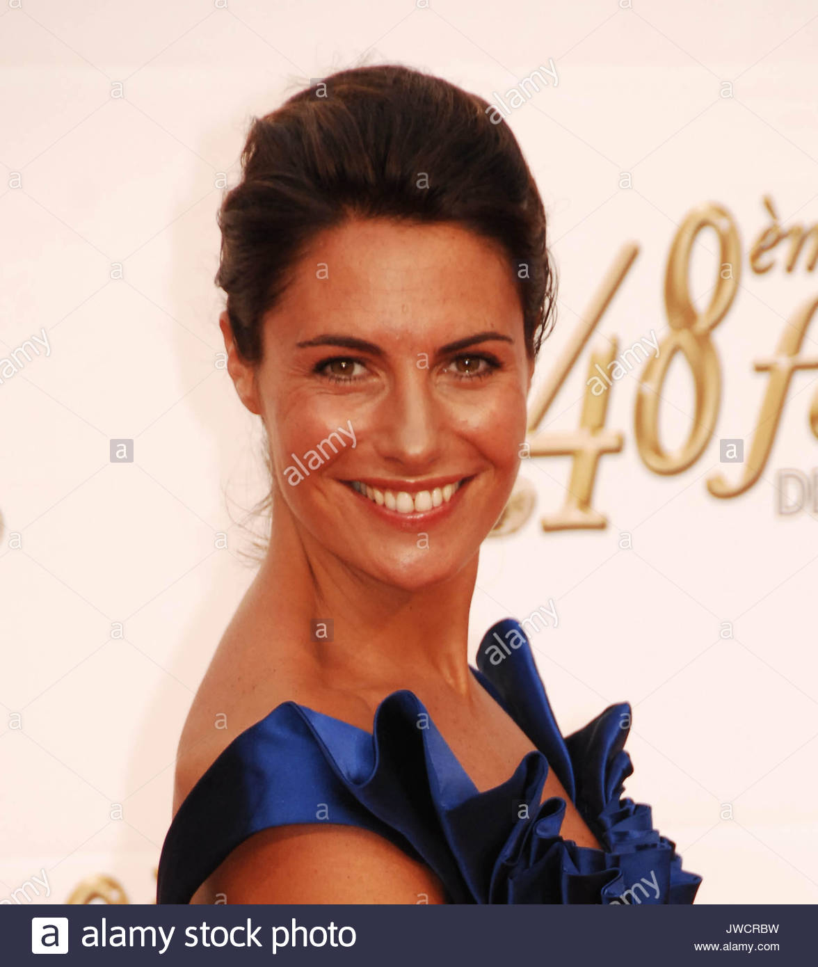 Alessandra Sublet At The Monte Carlo TV Festival.   Stock Image