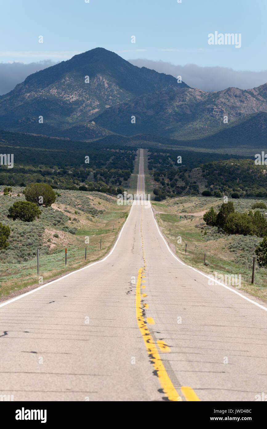 Highway 56 in Western Utah. Stock Photo
