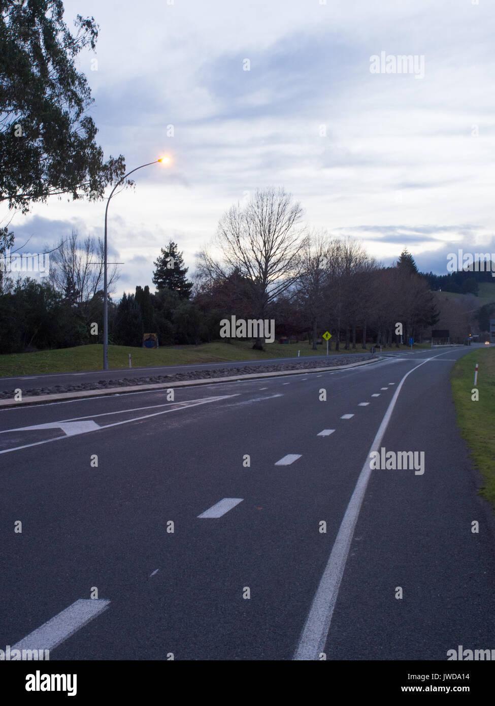 Turangi Main Road - Stock Image