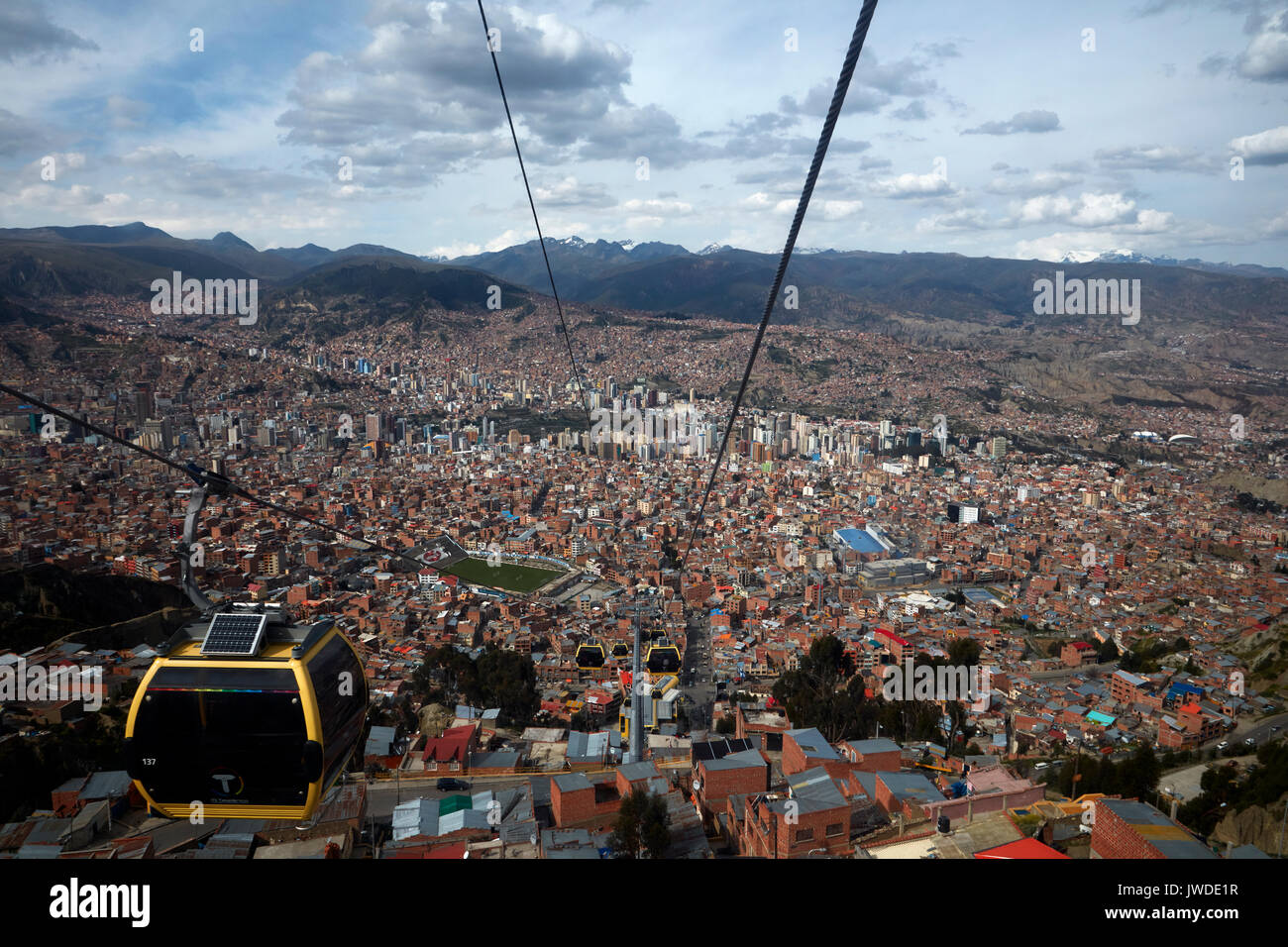 Teleferico cable car network, La Paz, Bolivia, South America Stock Photo