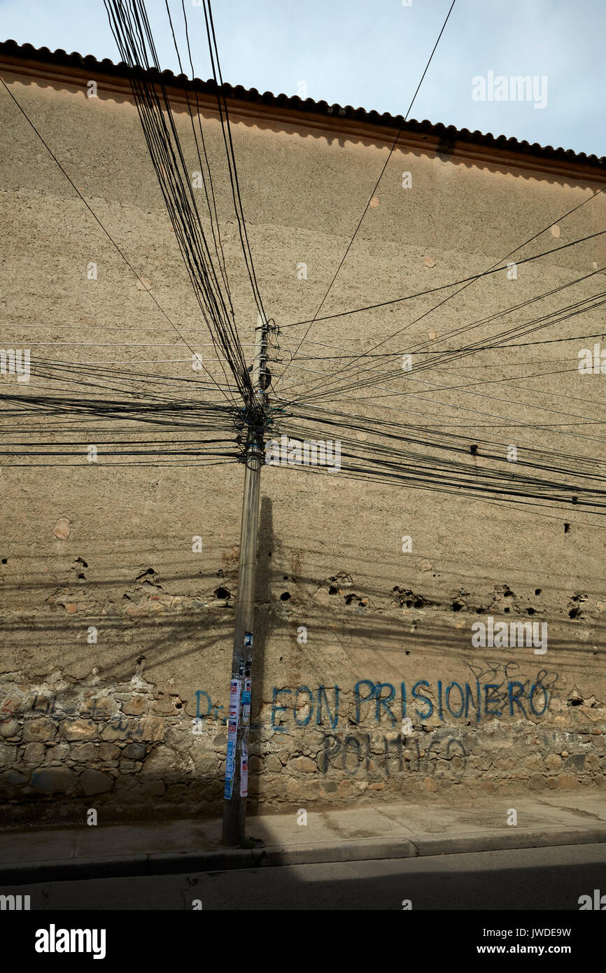 Gaol Wall Stock Photos Images Alamy Wiring Works San Pedro Of Infamous Prison La Paz Bolivia South America